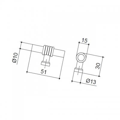 Ручка-кнопка, отделка античное железо 47105.53
