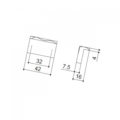 Ручка-кнопка, отделка черная 217.767-32-6541
