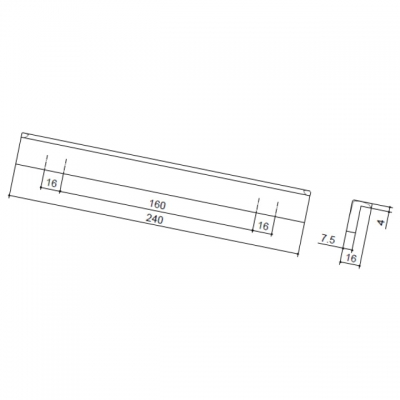 Ручка-скоба 160-192мм, отделка черная 217.767-160/192-6541