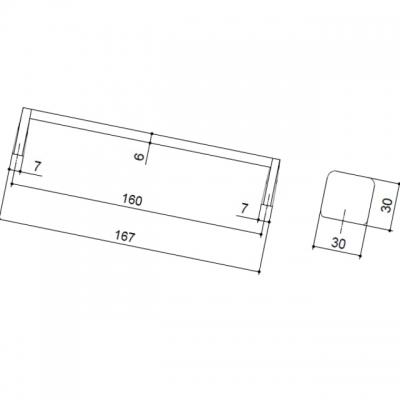 Ручка-скоба 160мм, отделка хром глянец + чёрный матовый 217.794.160-9612/9603