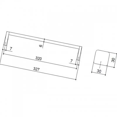 Ручка-скоба 320мм, отделка хром глянец + чёрный матовый 217.794.320-9612/9603