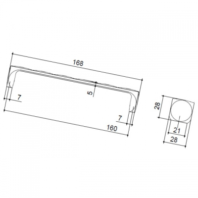 Ручка-скоба 160мм, отделка хром глянец 217.830-160-9603