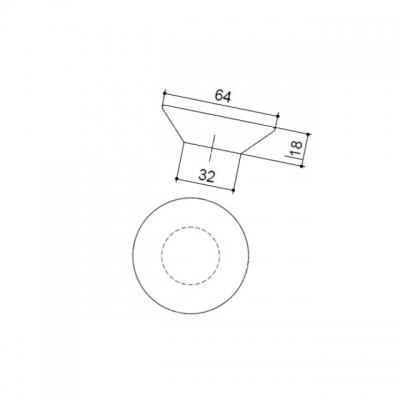Ручка-кнопка, отделка транспарент + оранжевый 217.896-2400/6603