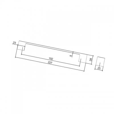 Ручка-скоба 192мм, отделка алюминий AB.003.192.AP