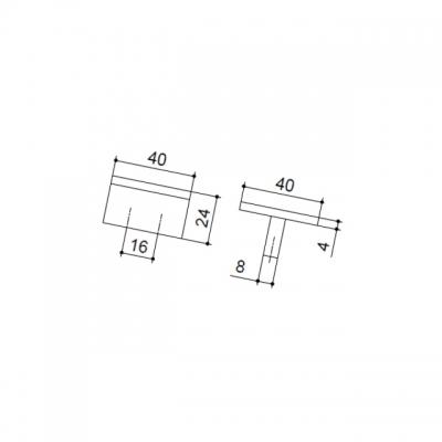 Ручка-скоба 16мм, отделка алюминий AB.004.016.AP