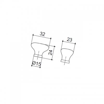 Ручка-кнопка, отделка золото глянец + керамика P02.01.12.06