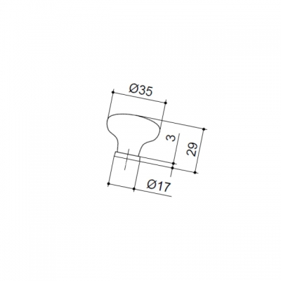 Ручка-кнопка, отделка медь античная + керамика P03.01.122.27