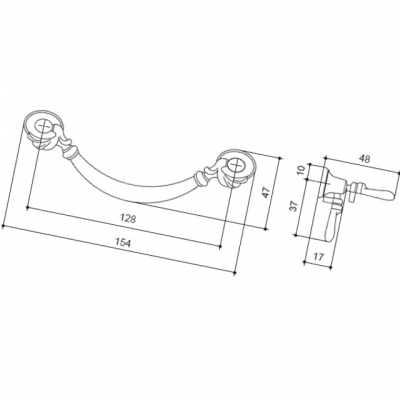 """Ручка-скоба 128мм, отделка бронза """"Валенсия"""" 03030Z12800.07"""
