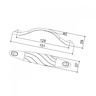 """Ручка-скоба 128мм, отделка бронза """"Валенсия"""" 15050Z1280B.07"""