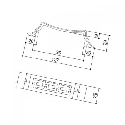 """Ручка-скоба 96мм, отделка бронза """"Флоренция"""" 15086Z0960B.09"""