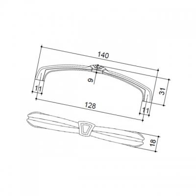 """Ручка-скоба 128мм, отделка бронза """"Валенсия"""" 15128Z12800.07"""