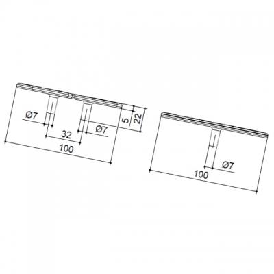 Ручка-скоба 32мм, отделка серебро 15163Z10000.78