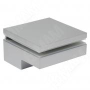 MS.1436.AP Менсолодержатель 80Х80 мм для деревянных и стеклянных полок 6 - 40 мм, хром матовый, (2 шт.)