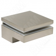 MS.1436.NP Менсолодержатель 80Х80 мм для деревянных и стеклянных полок 6 - 40 мм, никель (2 шт.)