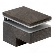 MS.1437.BA Менсолодержатель 40Х60 мм для деревянных и стеклянных полок 6 -25 мм, бронза патинированная (2 шт.)