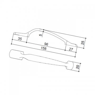 "Ручка-скоба 96мм, отделка бронза ""Флоренция"" 15342.09600.09"