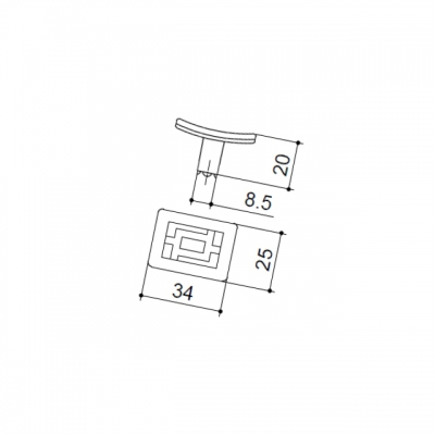 """Ручка-кнопка, отделка бронза """"Флоренция"""" 24086Z0350B.09"""