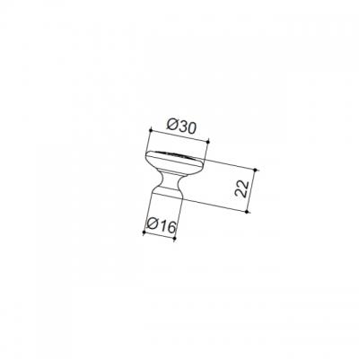 Ручка-кнопка, отделка серебро старое 24134Z03000.25