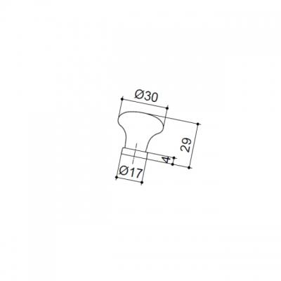 """Ручка-кнопка, отделка бронза """"Валенсия"""" + керамика 24136P0301H.07"""