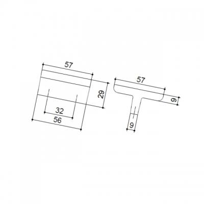 Ручка-скоба 32мм, отделка никель глянец + белый (крокодил) 24206E0575B.32