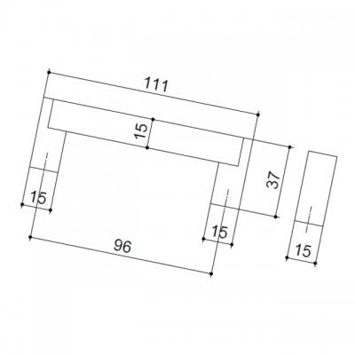Ручка-скоба 96мм, отделка сталь нержавеющая 319/11.096
