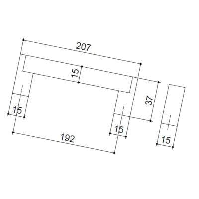 Ручка-скоба 192мм, отделка сталь нержавеющая 319/11.192