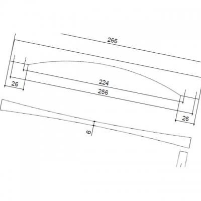 Ручка-скоба 224-256мм, отделка сталь нержавеющая 350/11.4F