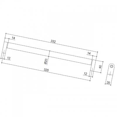 Ручка-скоба 320мм, отделка сталь нержавеющая 354/11.320