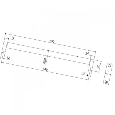 Ручка-скоба 640мм, отделка сталь нержавеющая 354/11.640