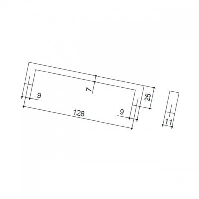 Ручка-скоба 128мм, отделка хром глянец LIF.0133.A0CL1