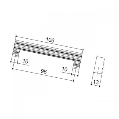 Ручка-скоба 96мм, отделка золото глянец LIF.0140.A0OL1