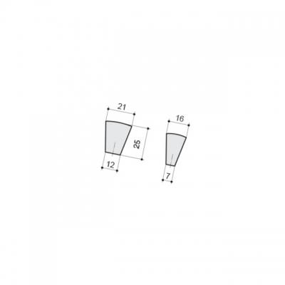 Ручка-кнопка, отделка хром глянец + горный хрусталь CH0101-000.PC