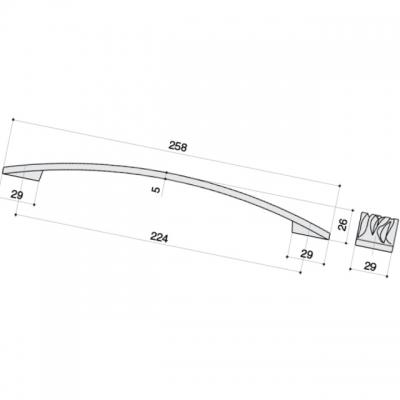 Ручка-скоба 224мм, отделка никель полуглянец 12793.F15S.G