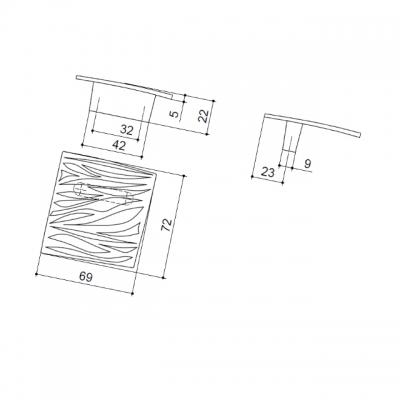 Ручка-кнопка, отделка никель полуглянец 24106.D15S.G