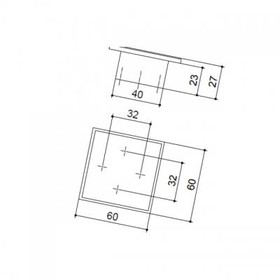 Ручка-скоба 32-32мм, отделка хром глянец 24109.D260