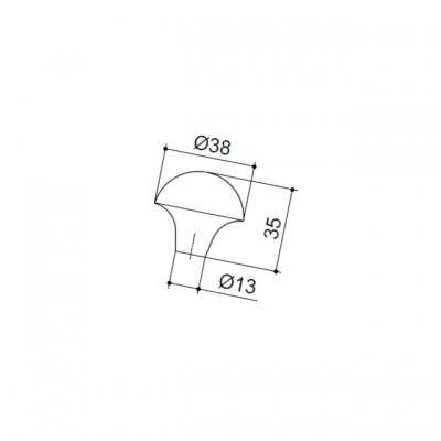 Ручка-кнопка, отделка железо KB-I-3770-38-I