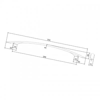Ручка-скоба 288мм, отделка хром матовый 0997.10C