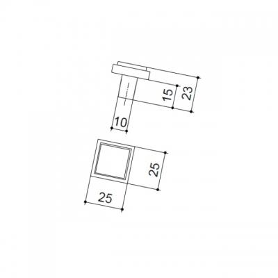 Ручка-кнопка, отделка хром глянец + графит 15.320.00.VS14.07