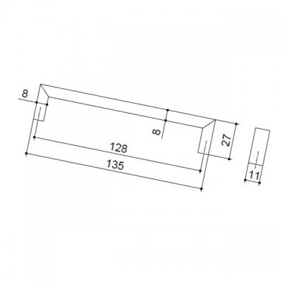 Ручка-скоба 128мм, отделка хром матовый 149.128.SC