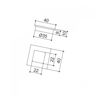 Ручка врезная, отделка никель матовый 183.35.BSN