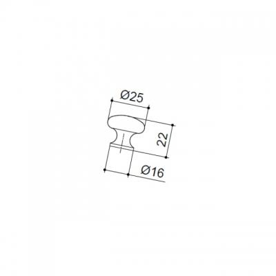 Ручка-кнопка, отделка хром матовый 315.25.SC