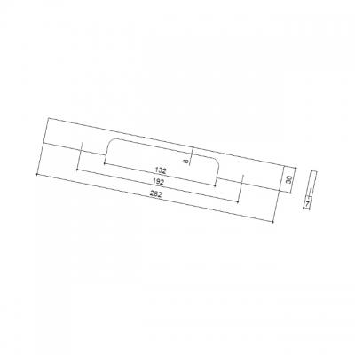 Ручка-скоба 192 мм, отделка алюминий 218192.FS