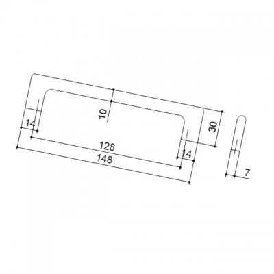 Ручка-скоба 128мм, отделка хром глянец ER.005.128.CP