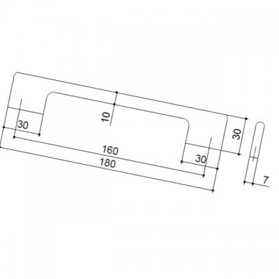 Ручка-скоба 160мм, отделка хром глянец ER.005.160.CP
