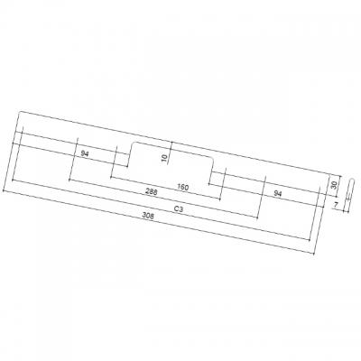 Ручка-скоба 160-288мм, отделка хром глянец ER.005.160-288.CP