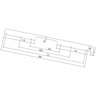 Ручка-скоба 160-320мм, отделка хром глянец ER.005.160-320.CP