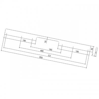 Ручка-скоба 160-480мм, отделка хром глянец ER.005.160-480.CP