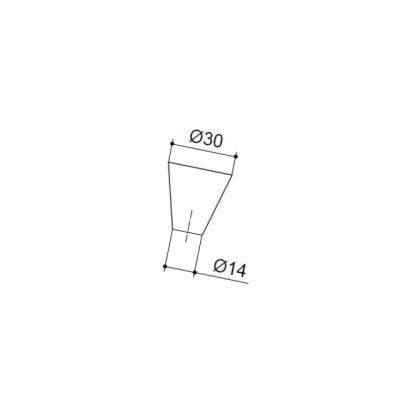 Ручка-кнопка, отделка алюминий + венге 223 AL/HW