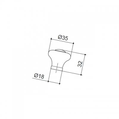 Ручка-кнопка, отделка бронза античная + керамика 7-825.32