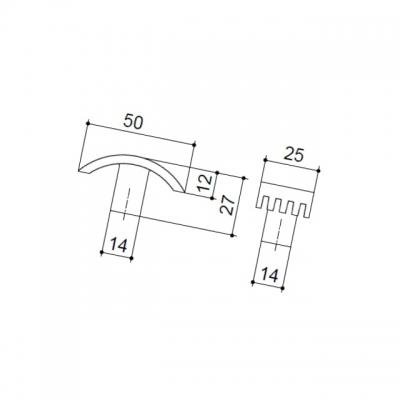 Ручка-кнопка, отделка хром матовый A034.DC.28